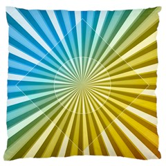 Abstract Art Art Radiation Large Flano Cushion Case (one Side)