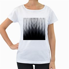 Feather Graphic Design Background Women s Loose Fit T Shirt (white)