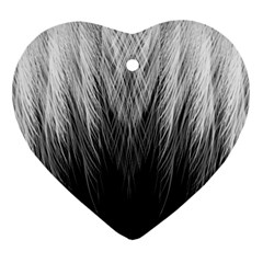 Feather Graphic Design Background Heart Ornament (two Sides)