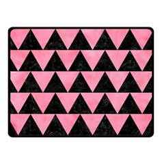 Triangle2 Black Marble & Pink Watercolor Double Sided Fleece Blanket (small)