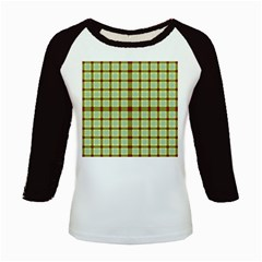 Geometric Tartan Pattern Square Kids Baseball Jerseys