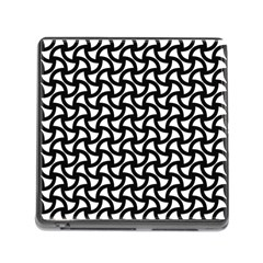Grid Pattern Background Geometric Memory Card Reader (square)