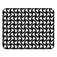 Grid Pattern Background Geometric Double Sided Flano Blanket (large)