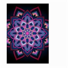 Mandala Circular Pattern Large Garden Flag (two Sides)