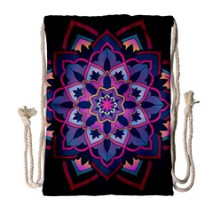Mandala Circular Pattern Drawstring Bag (large)
