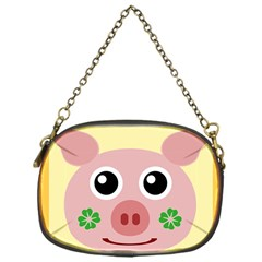 Luck Lucky Pig Pig Lucky Charm Chain Purses (one Side)