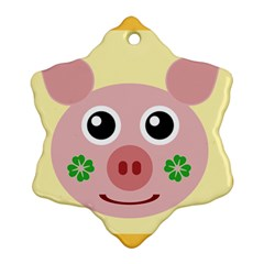 Luck Lucky Pig Pig Lucky Charm Ornament (snowflake)