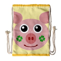 Luck Lucky Pig Pig Lucky Charm Drawstring Bag (large)