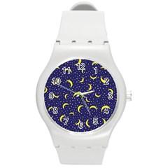 Moon Pattern Round Plastic Sport Watch (m)