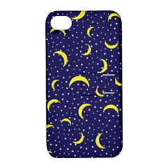 Moon Pattern Apple Iphone 4/4s Hardshell Case With Stand