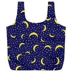 Moon Pattern Full Print Recycle Bags (l)