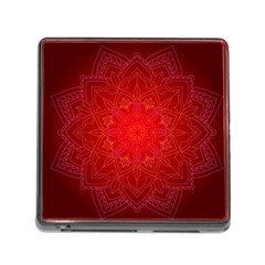 Mandala Ornament Floral Pattern Memory Card Reader (square)