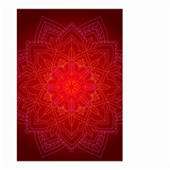 Mandala Ornament Floral Pattern Small Garden Flag (two Sides)