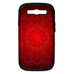 Mandala Ornament Floral Pattern Samsung Galaxy S Iii Hardshell Case (pc+silicone)