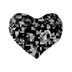 Noise Texture Graphics Generated Standard 16  Premium Heart Shape Cushions