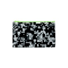 Noise Texture Graphics Generated Cosmetic Bag (xs)