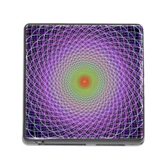 Art Digital Fractal Spiral Spin Memory Card Reader (square)