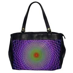 Art Digital Fractal Spiral Spin Office Handbags