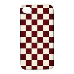 Pattern Background Texture Apple Iphone 4/4s Hardshell Case With Stand