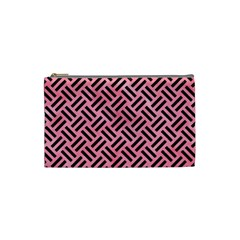 Woven2 Black Marble & Pink Watercolor Cosmetic Bag (small)