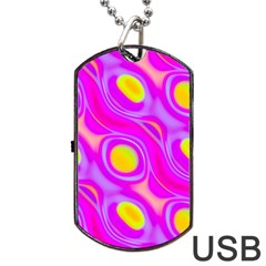Noise Texture Graphics Generated Dog Tag Usb Flash (one Side)