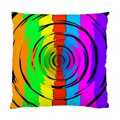 Pattern Colorful Glass Distortion Standard Cushion Case (two Sides)