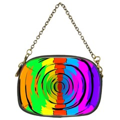 Pattern Colorful Glass Distortion Chain Purses (two Sides)