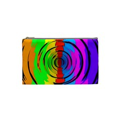 Pattern Colorful Glass Distortion Cosmetic Bag (small)