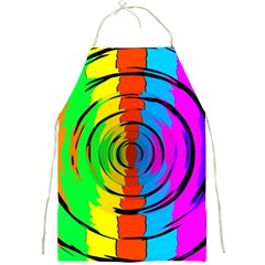 Pattern Colorful Glass Distortion Full Print Aprons