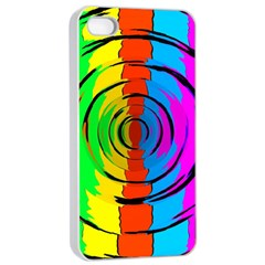 Pattern Colorful Glass Distortion Apple Iphone 4/4s Seamless Case (white)