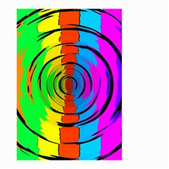 Pattern Colorful Glass Distortion Small Garden Flag (two Sides)