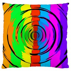 Pattern Colorful Glass Distortion Large Cushion Case (one Side)