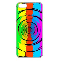 Pattern Colorful Glass Distortion Apple Seamless Iphone 5 Case (clear)