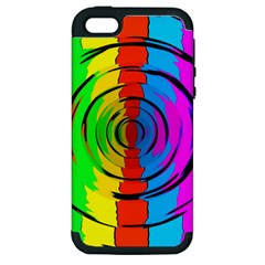 Pattern Colorful Glass Distortion Apple Iphone 5 Hardshell Case (pc+silicone)