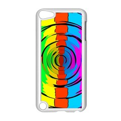 Pattern Colorful Glass Distortion Apple Ipod Touch 5 Case (white)