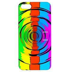 Pattern Colorful Glass Distortion Apple Iphone 5 Hardshell Case With Stand