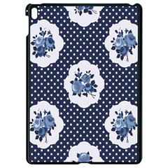 Shabby Chic Navy Blue Apple Ipad Pro 9 7   Black Seamless Case