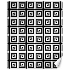Seamless Pattern Background Black And White Canvas 16  X 20