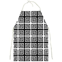 Seamless Pattern Background Black And White Full Print Aprons