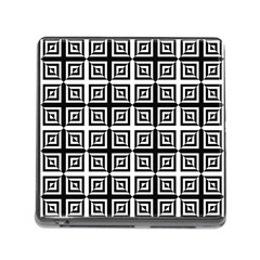 Seamless Pattern Background Black And White Memory Card Reader (square)
