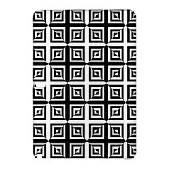 Seamless Pattern Background Black And White Samsung Galaxy Tab Pro 12 2 Hardshell Case
