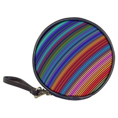 Multicolored Stripe Curve Striped Classic 20 Cd Wallets