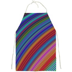 Multicolored Stripe Curve Striped Full Print Aprons