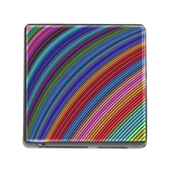 Multicolored Stripe Curve Striped Memory Card Reader (square)