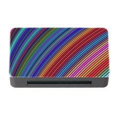 Multicolored Stripe Curve Striped Memory Card Reader With Cf