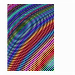 Multicolored Stripe Curve Striped Small Garden Flag (two Sides)