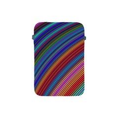 Multicolored Stripe Curve Striped Apple Ipad Mini Protective Soft Cases