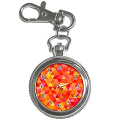 Triangle Tile Mosaic Pattern Key Chain Watches