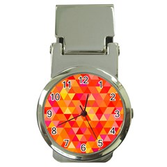Triangle Tile Mosaic Pattern Money Clip Watches