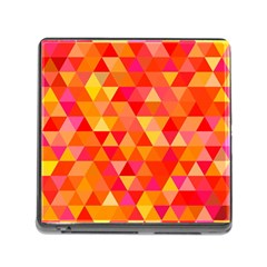 Triangle Tile Mosaic Pattern Memory Card Reader (square)